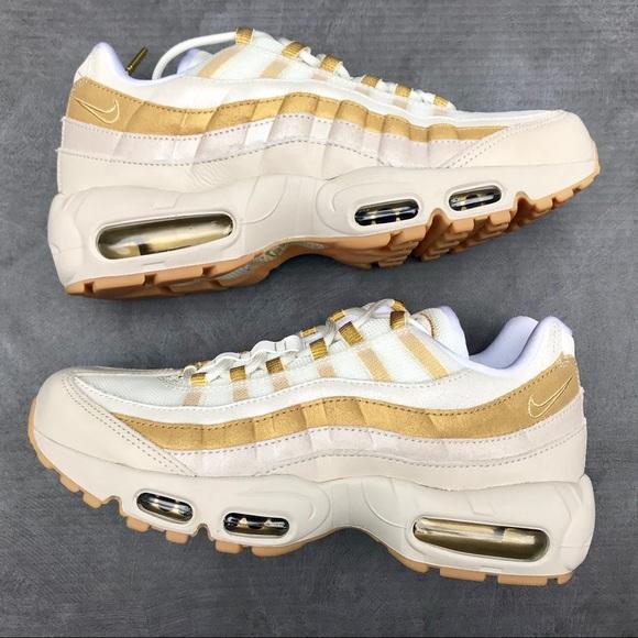 buy popular 9d4b7 ed783 Nike Air Max 95 Women's Shoes Desert Sand/Gold NWT